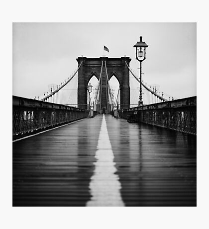 Brooklyn Bridge In Rain Photographic Print