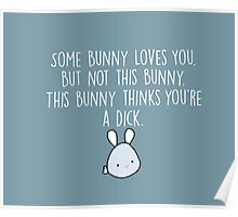 Not This Bunny Poster