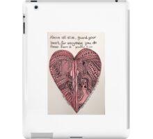 Guard your heart. iPad Case/Skin