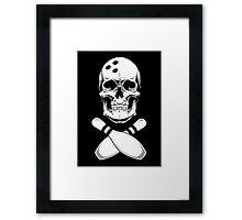 Bowling - Skull & Crossbones Framed Print