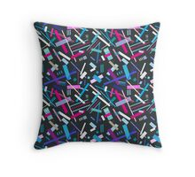 Colorful cool geometric pattern  Throw Pillow
