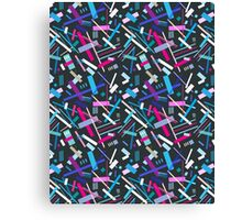 Colorful cool geometric pattern  Canvas Print