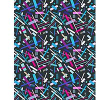 Colorful cool geometric pattern  Photographic Print