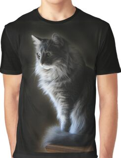 Backlit Kitty Graphic T-Shirt