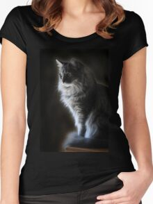 Backlit Kitty Women's Fitted Scoop T-Shirt