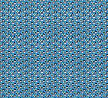 Space Dandy, Meow & QT Pattern by teslacake