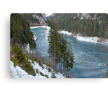 Mountain lake on wintertime Metal Print