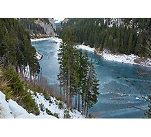 Mountain lake on wintertime Photographic Print