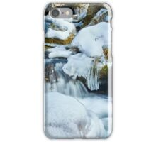 Frozen river on mountains iPhone Case/Skin