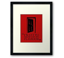 CHRISTIAN GREY - PLAYROOM Framed Print