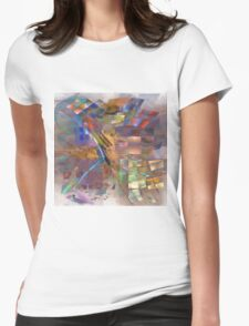 Four Eyes (Square Version) - By John Robert Beck Womens Fitted T-Shirt