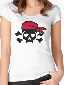 Pirate skull Women's Fitted Scoop T-Shirt