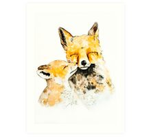 With Love and Fur Watercolor Painting Art Print