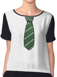 Slytherin Tie  Chiffon Top