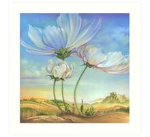 In the Half-shadow of Wild Flowers Art Print