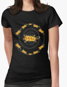 Turtles Dance Womens Fitted T-Shirt