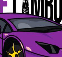 Purple Lamborghini Sticker