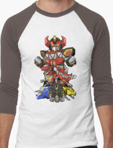 Dinosaur Robots Men's Baseball ¾ T-Shirt