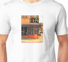 Hi- Fi Cafe in Milwaukee wisconsin  Unisex T-Shirt