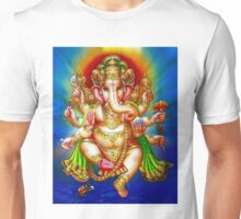 """GANESHA HINDU GOD"" Vintage Deity Print Unisex T-Shirt"