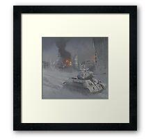 T34 WW2 tank Framed Print