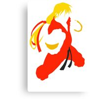Ken silhouette/cutout (Street fighter) Canvas Print