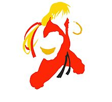 Ken silhouette/cutout (Street fighter) Photographic Print