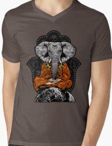 Yogaphant Color Mens V-Neck T-Shirt