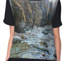 River in a canyon Chiffon Top