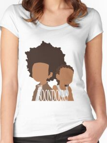 Minimalistic Huey/Riley (The Boondocks) Women's Fitted Scoop T-Shirt
