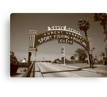 Route 66 - Santa Monica Pier Canvas Print