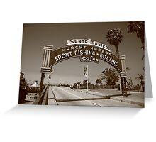 Route 66 - Santa Monica Pier Greeting Card
