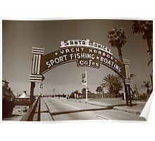 Route 66 - Santa Monica Pier Poster
