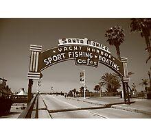 Route 66 - Santa Monica Pier Photographic Print
