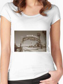 Route 66 - Santa Monica Pier Women's Fitted Scoop T-Shirt