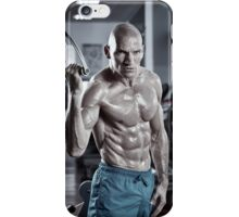 Abs workout in the gym iPhone Case/Skin