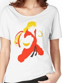 Ken silhouette/cutout (Street fighter) Women's Relaxed Fit T-Shirt