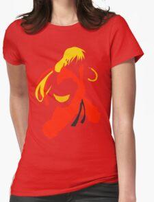 Ken silhouette/cutout (Street fighter) Womens Fitted T-Shirt