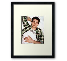 Dylan O'Brien Green Flannel Framed Print