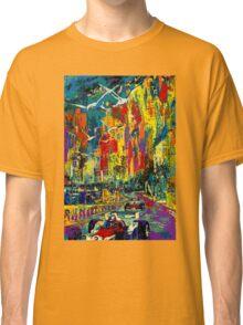 """MONACO GRAND PRIX"" Vintage Auto Racing Painting Print Classic T-Shirt"