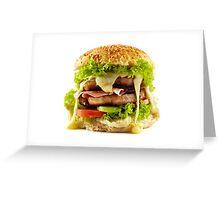 Homemade steak burger Greeting Card