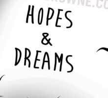 R.I.P. HOPES AND DREAMS Sticker
