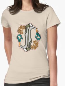 Celtic Rabbit Letter I - New Edition Womens Fitted T-Shirt