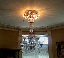 Beautiful Crystal Chandelier, Lambert Castle by Jane Neill-Hancock