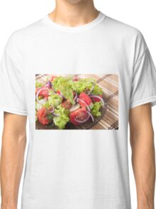 Fragment of vegetarian salad from fresh vegetables Classic T-Shirt