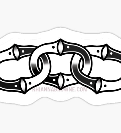 CHAINED UP Sticker