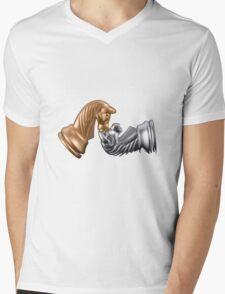 Chess Game Play Mens V-Neck T-Shirt