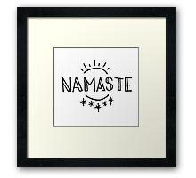 Namaste Sun and Moon  Framed Print
