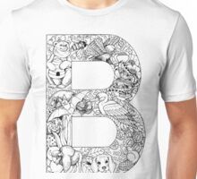 Animal Alphabet Letter B Unisex T-Shirt
