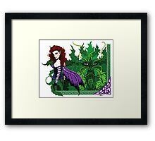 Greenman and Red Framed Print